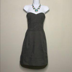 Covet Gray Black Herringbone Dress L A1